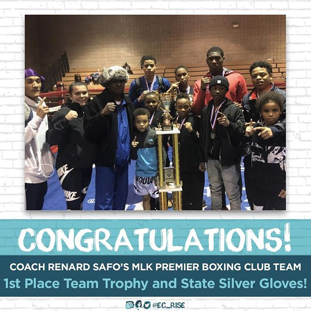Congratulations to the MLK Premier Boxing Club Team! 1st Place Team Trophy, State Silver Gloves, and 10 Victories! 😁🏆 These victors train in the MLK Civic Center and their win gives us more motivation to keep pushing to provide a safe space for them to train and keep winning!