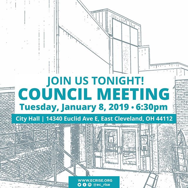 East Cleveland Residents, join us in engaging with our city's elected officials! Tonight at 6:30pm at EC City Hall. Let your voice be heard!