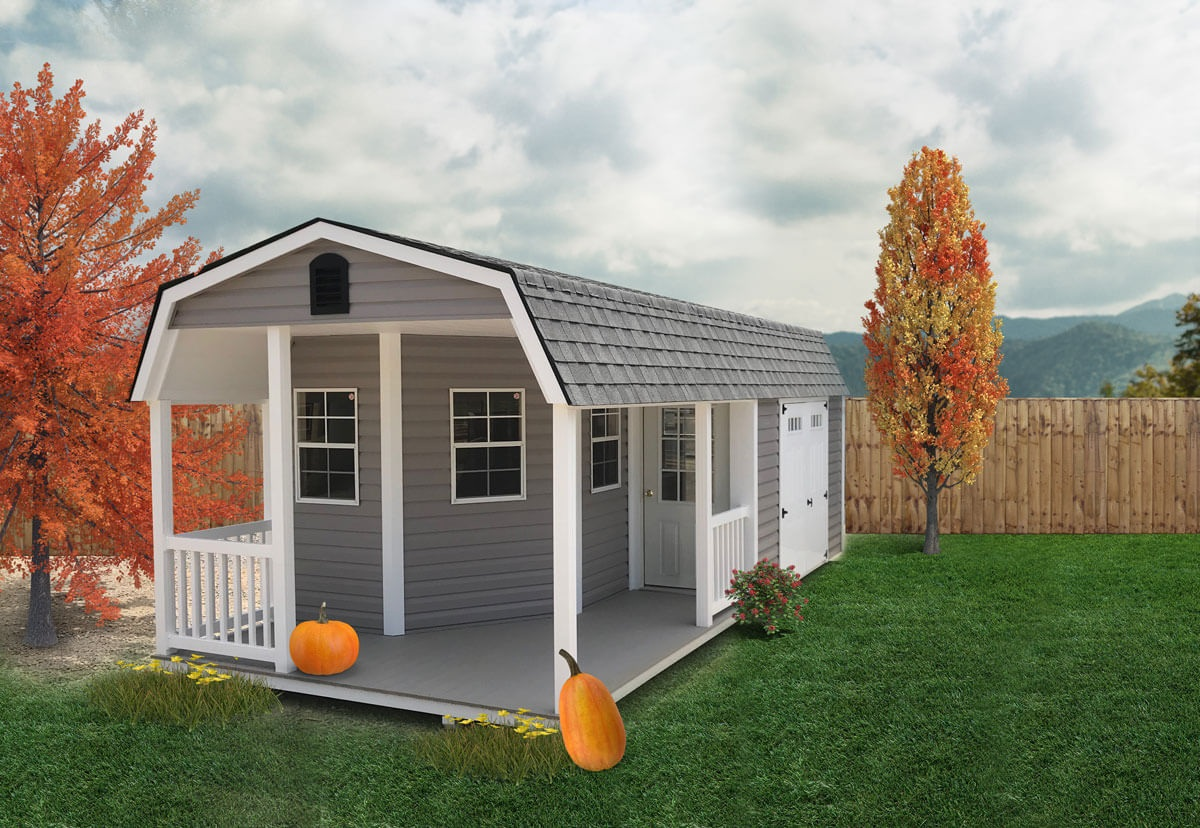 Lap Shed with Vinyl Porch
