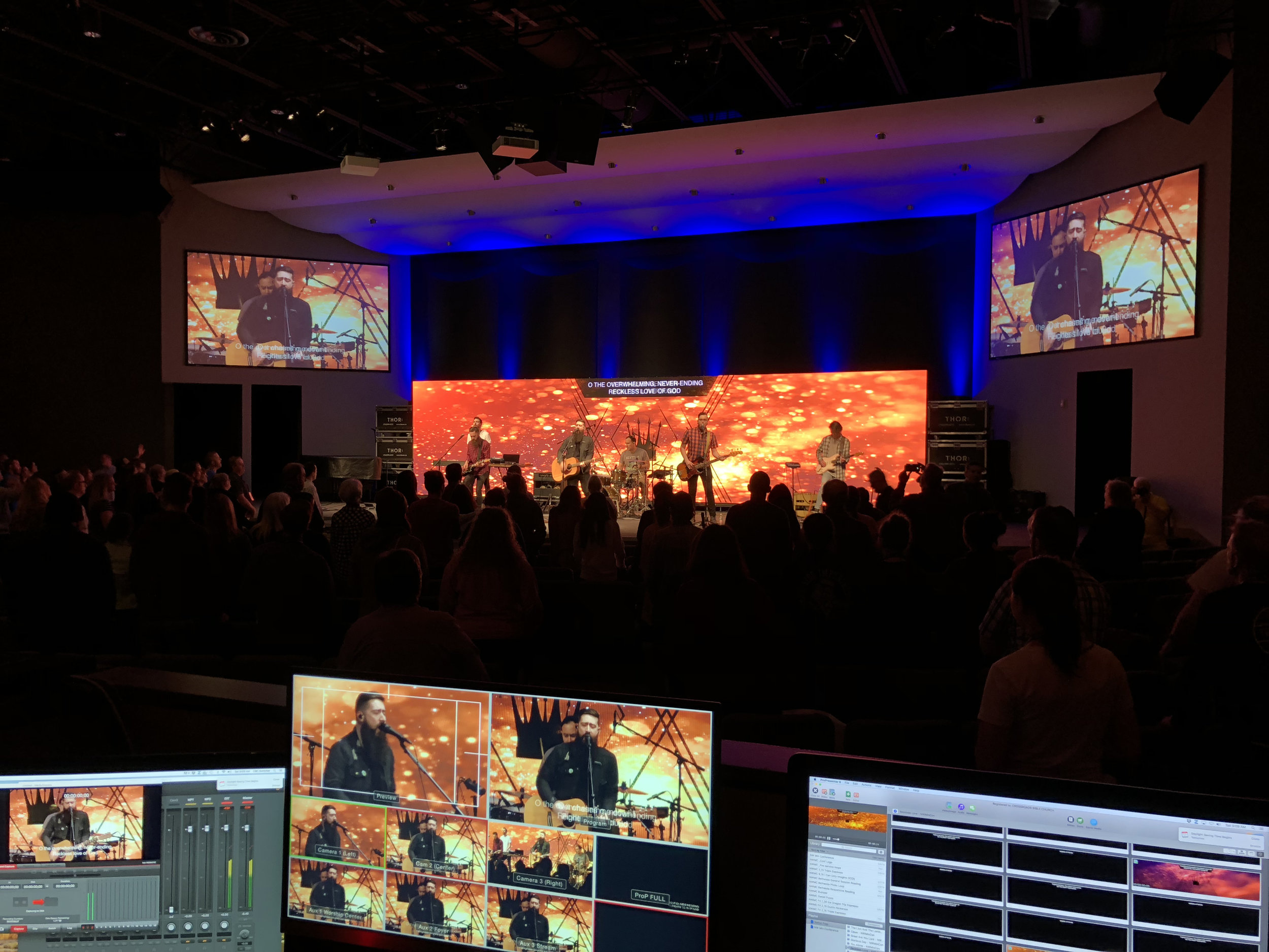 creating environments & experiences - through audio, video, lighting, media and production.