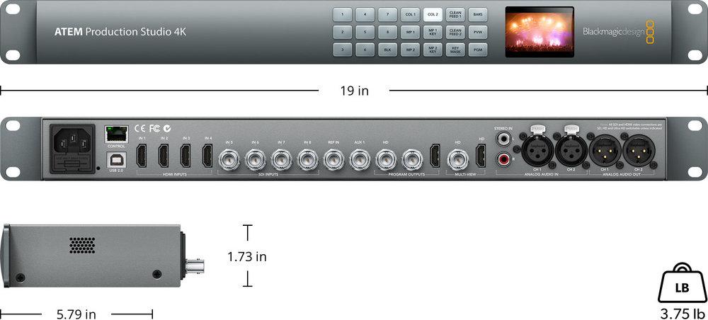 Blackmagic Design Atem Production Studio 4k Live Switcher Focus Partners Llc