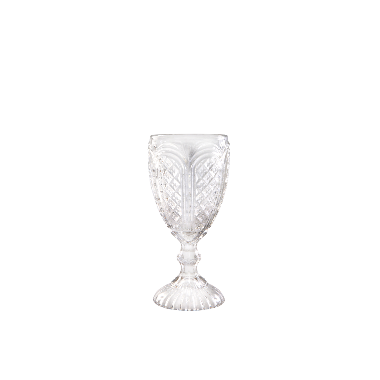 Antiqued Clear Goblet