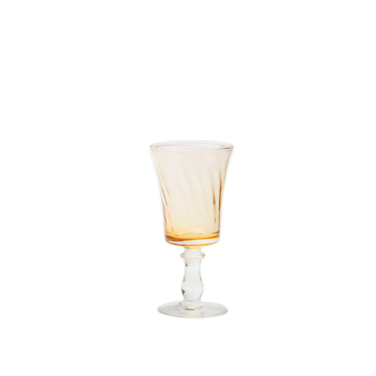 Light Yellow Wine Glass