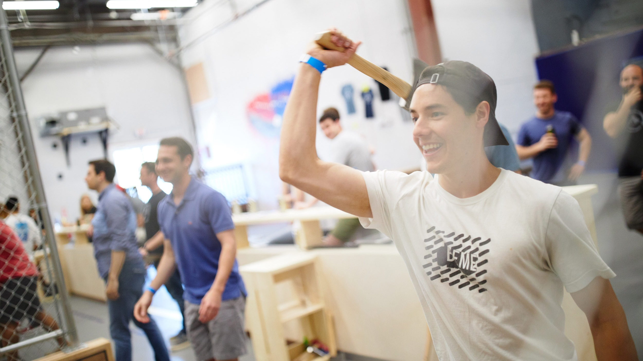 3. Throw Axes! - Once you've got a handle on the basics, compete with your friends in an action-packed round-robin tournament for 2 hours. Any way you cut it, you're going to have a great time!