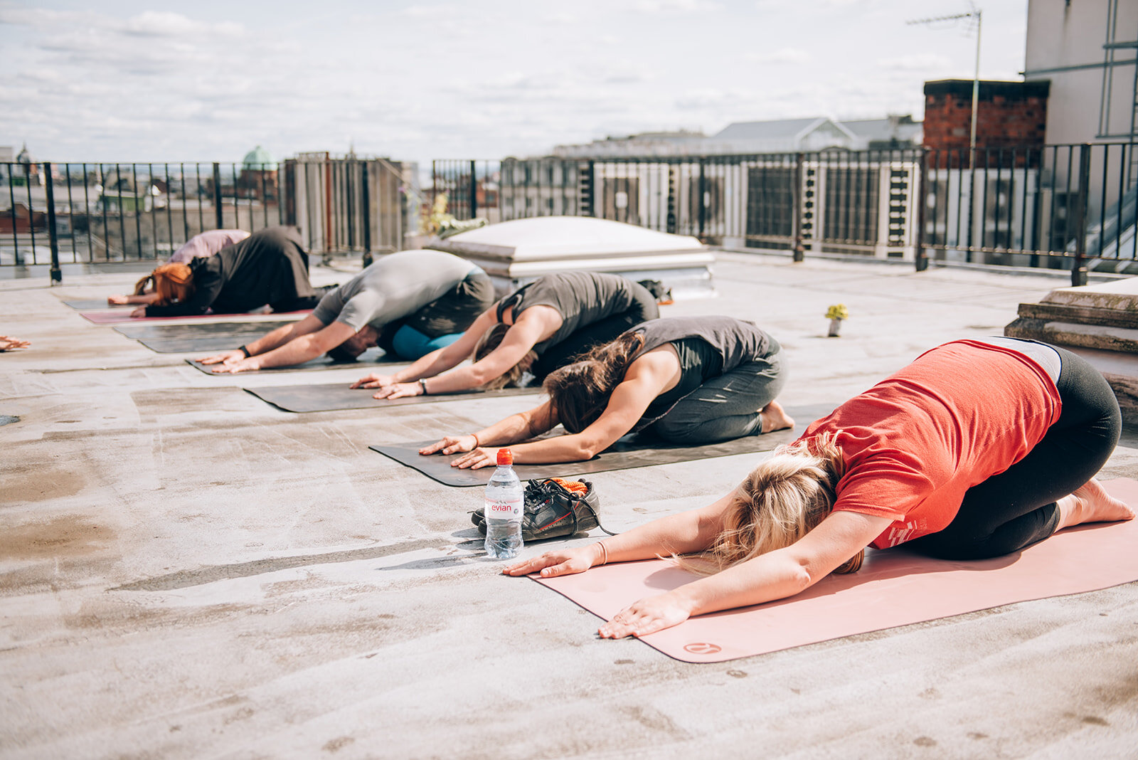 Let's get it Om! Festival rooftop yoga, raising funds for charity  SAMH .