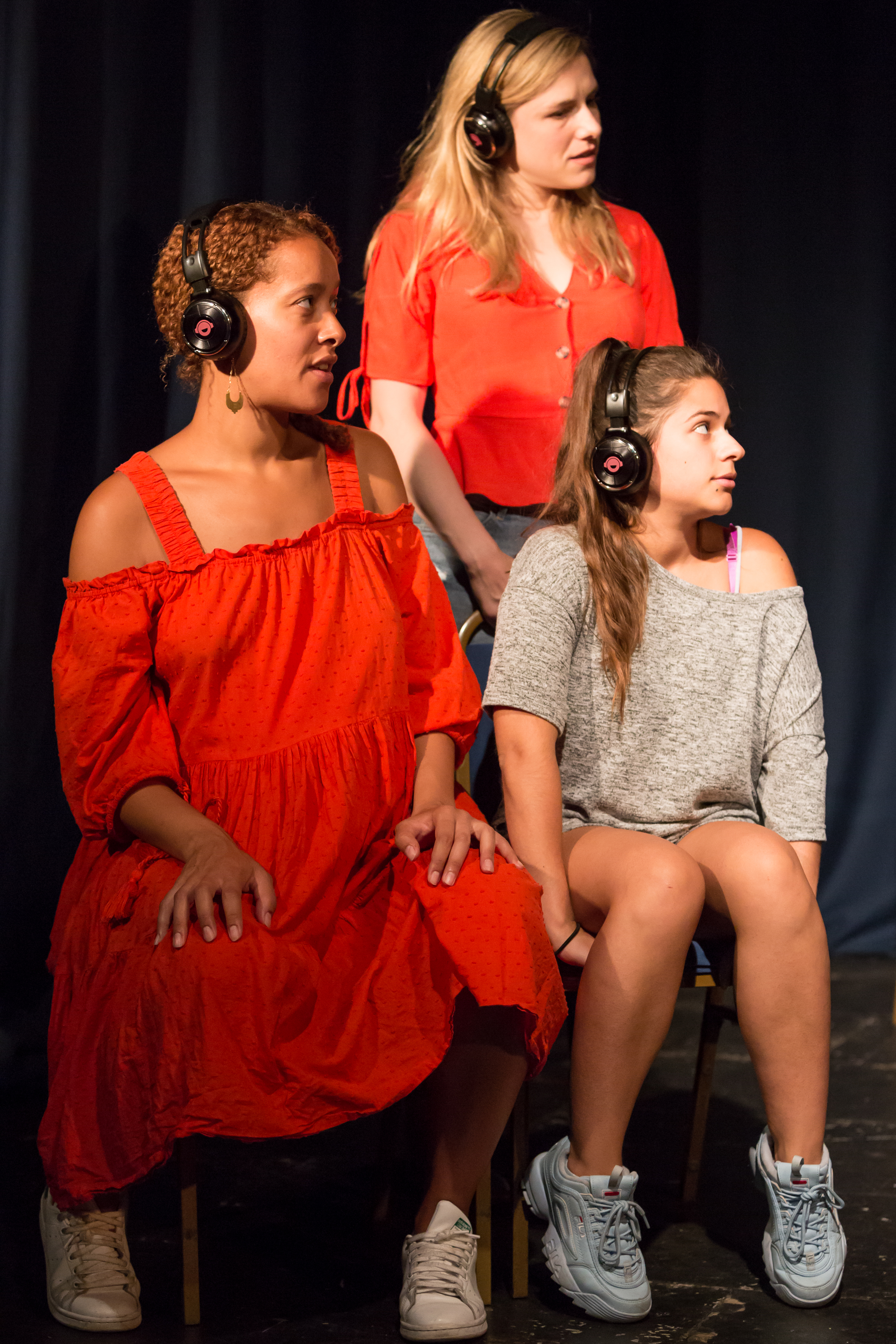 Longsight Theatre: Eloise Joseph, Nyla Levy and Alix Wilton Regan in 'Young Hot Bloods' at From The Forest Festival, 2018