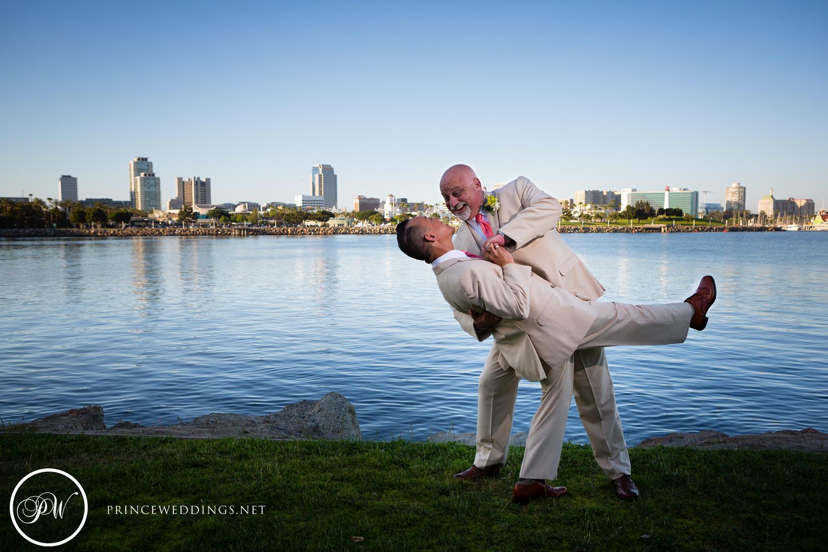 same sex long beach Wedding