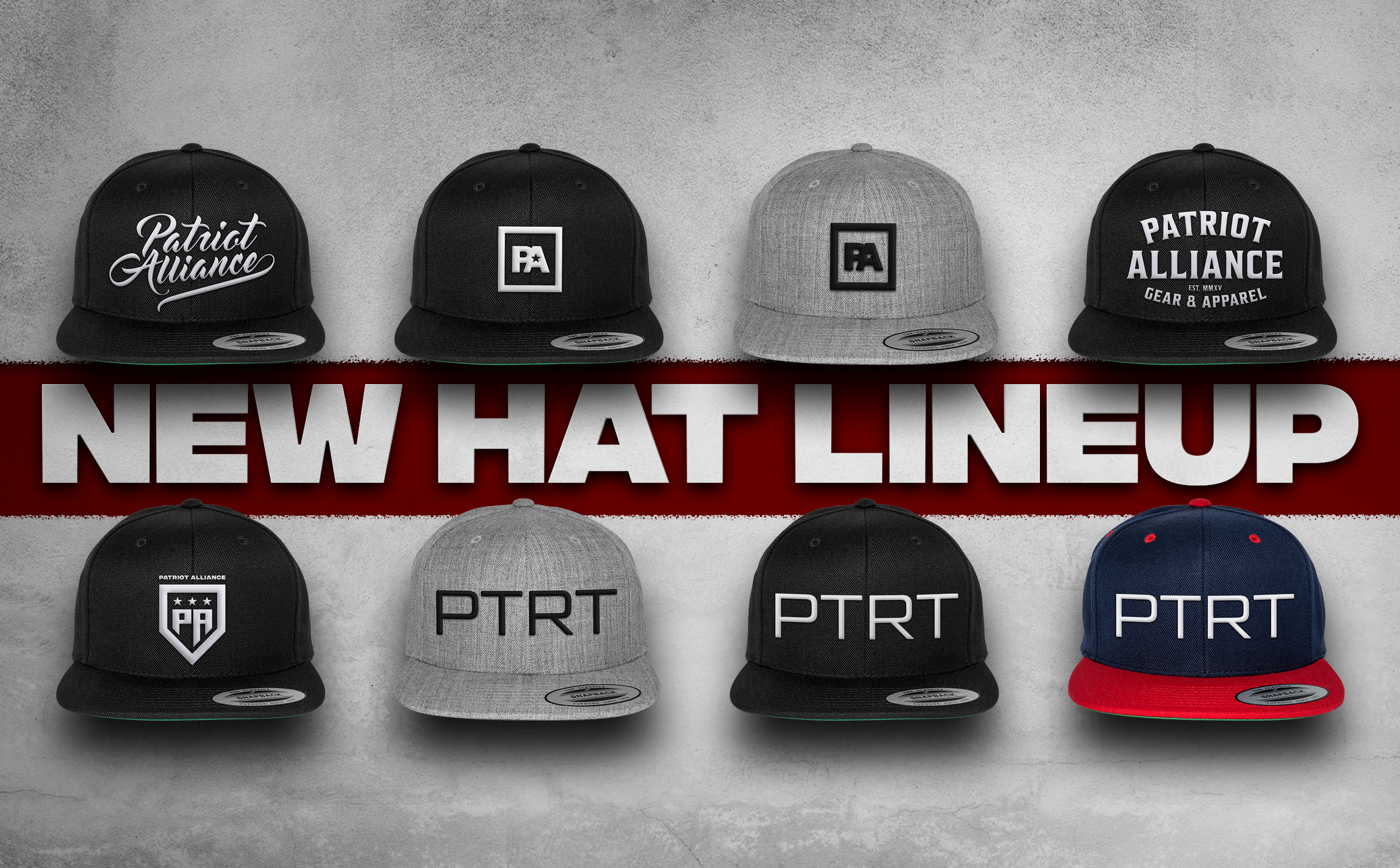Mike Farina - Patriot Alliance - New Hat Lineup Graphic