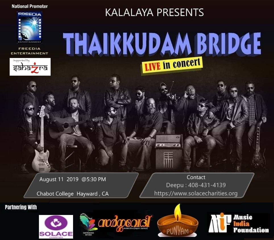 - Thaikkudam Bridge is a Kerala-based music band, founded and formed in 2013 .The band first became famous through the musical show Music Mojo, which is telecast on Kappa TV and their own composition