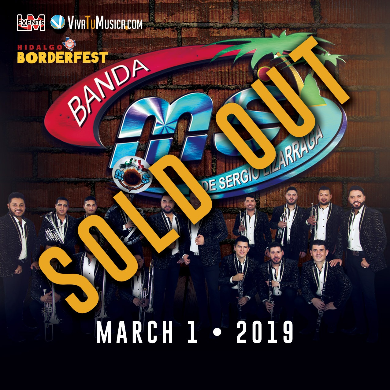 "BANDA MS - Friday, March 1 • SOLD OUT •   Banda Sinaloense MS de Sergio Lizarraga is a regional Mexican group who released a series of albums on the label Disa. Their album releases include Escuela de Rancho (2008), featuring the single ""El Mechón,"" and Corridos Atrevidos (2009), featuring ""El 24."" ~ Jason Birchmeier"