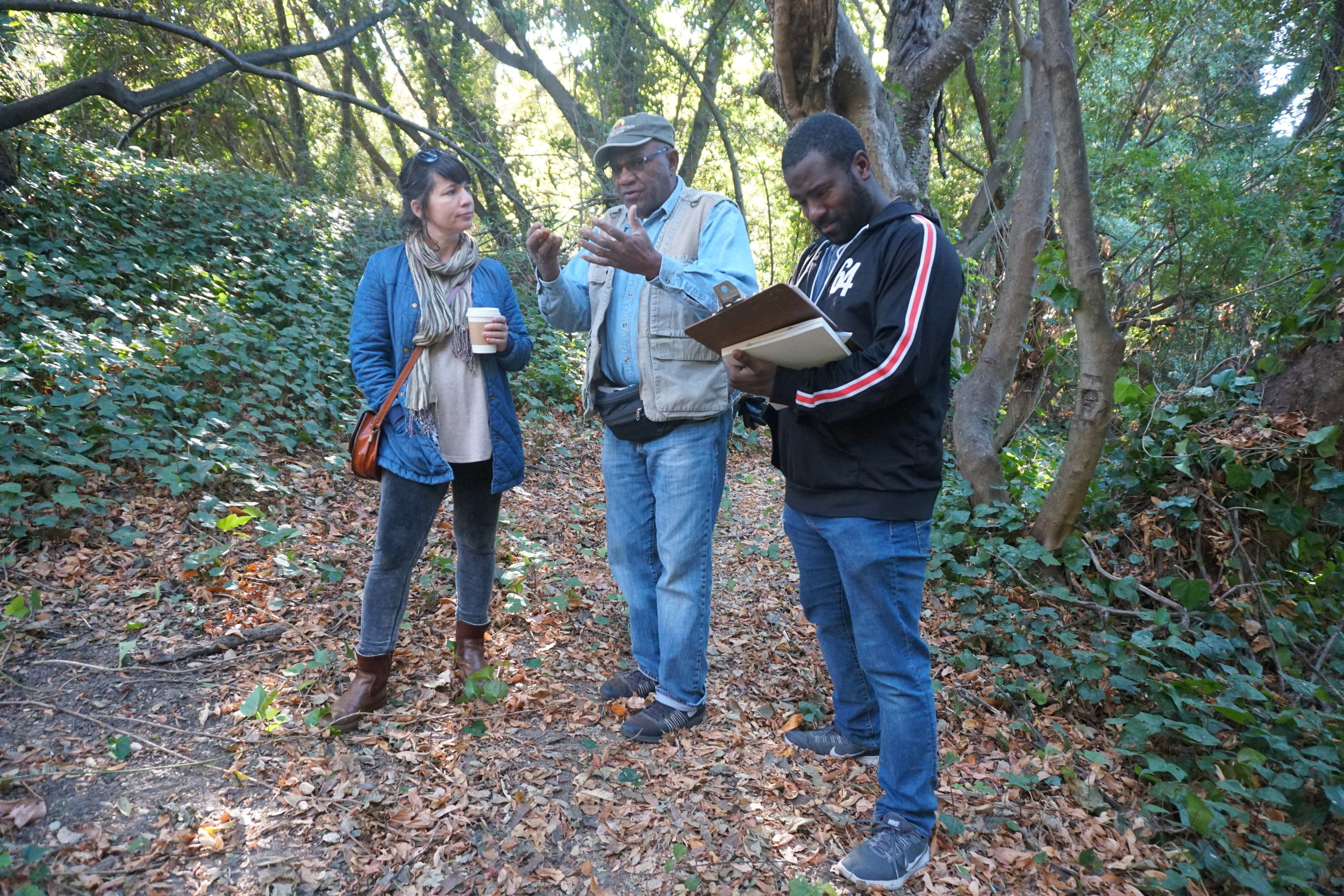 ecovillage field trip Oct 2018 Tamira Jones , Shyaam Shabaka, Peterson.JPG