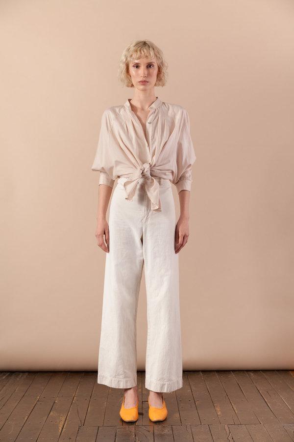 June Button Down Fawn Stripe $175