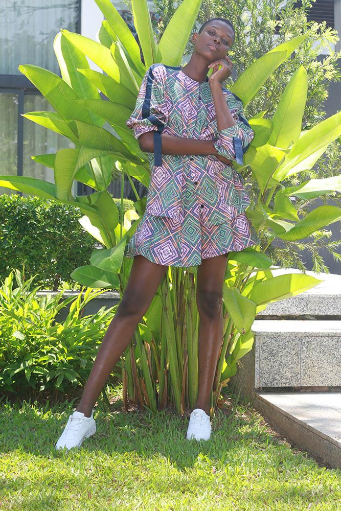 Kiki Top $390 Ibi Skirt $340 Pink/Green Print