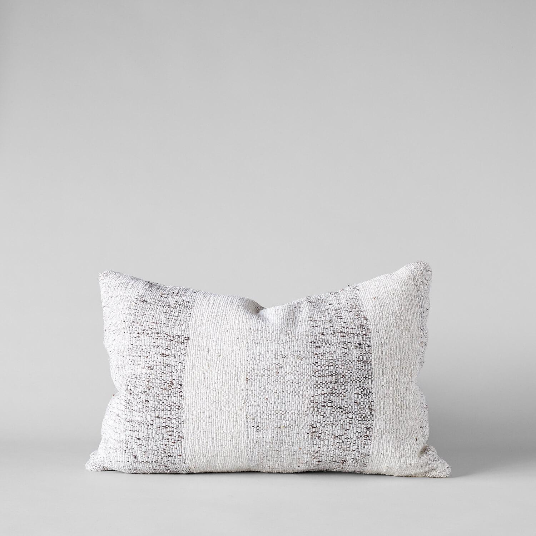 Textured Brown Stripes Pillow, 16x24 $98