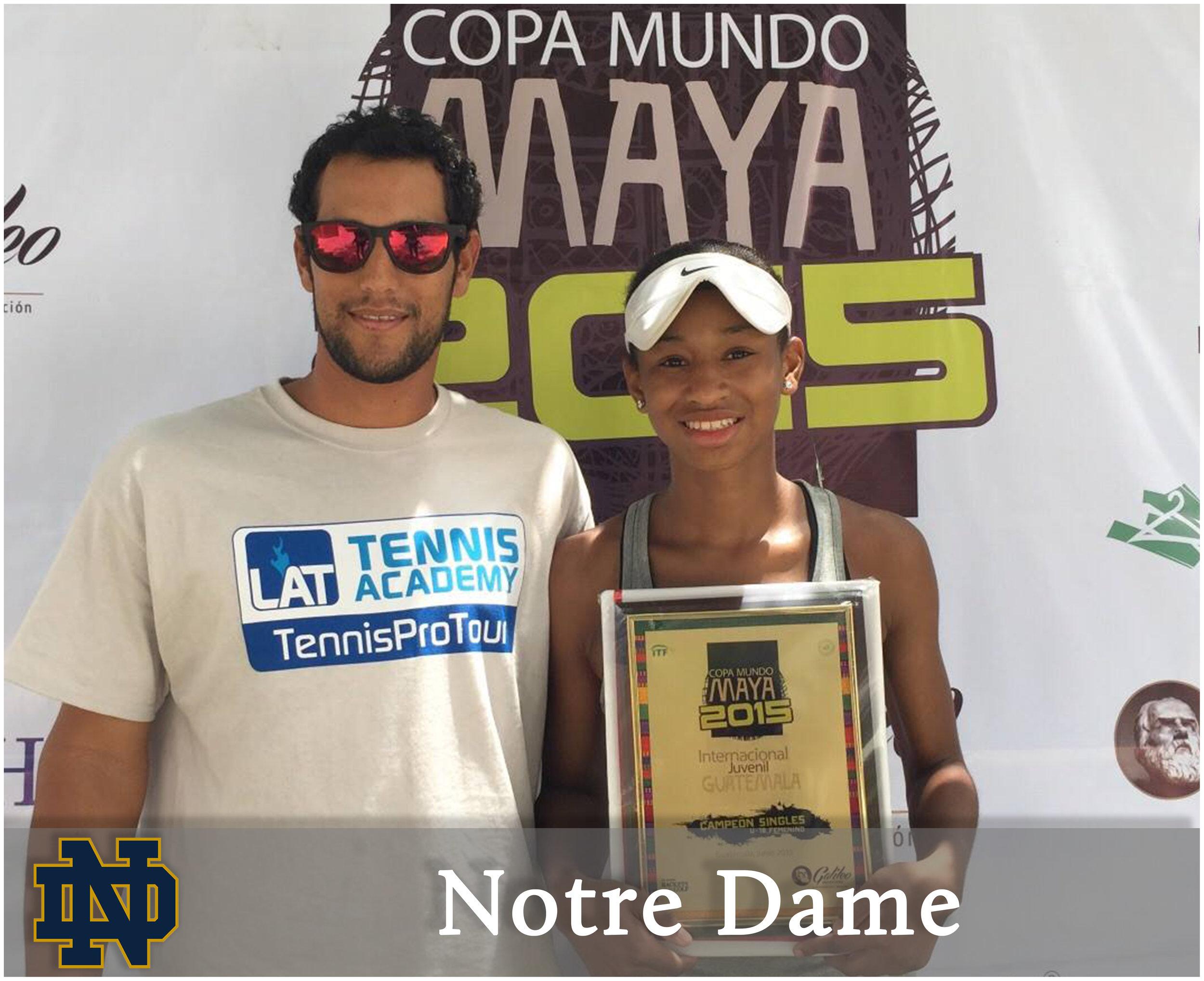 - Zoe Spence (Chicago, Illinois)Blue-Chip Recruit - #19 on TennisRecruiting#226 ITF World Junior RankingCopa Mundo Maya ITF - Singles Championdef. Yuki Naito (#32 ITF Juniors)