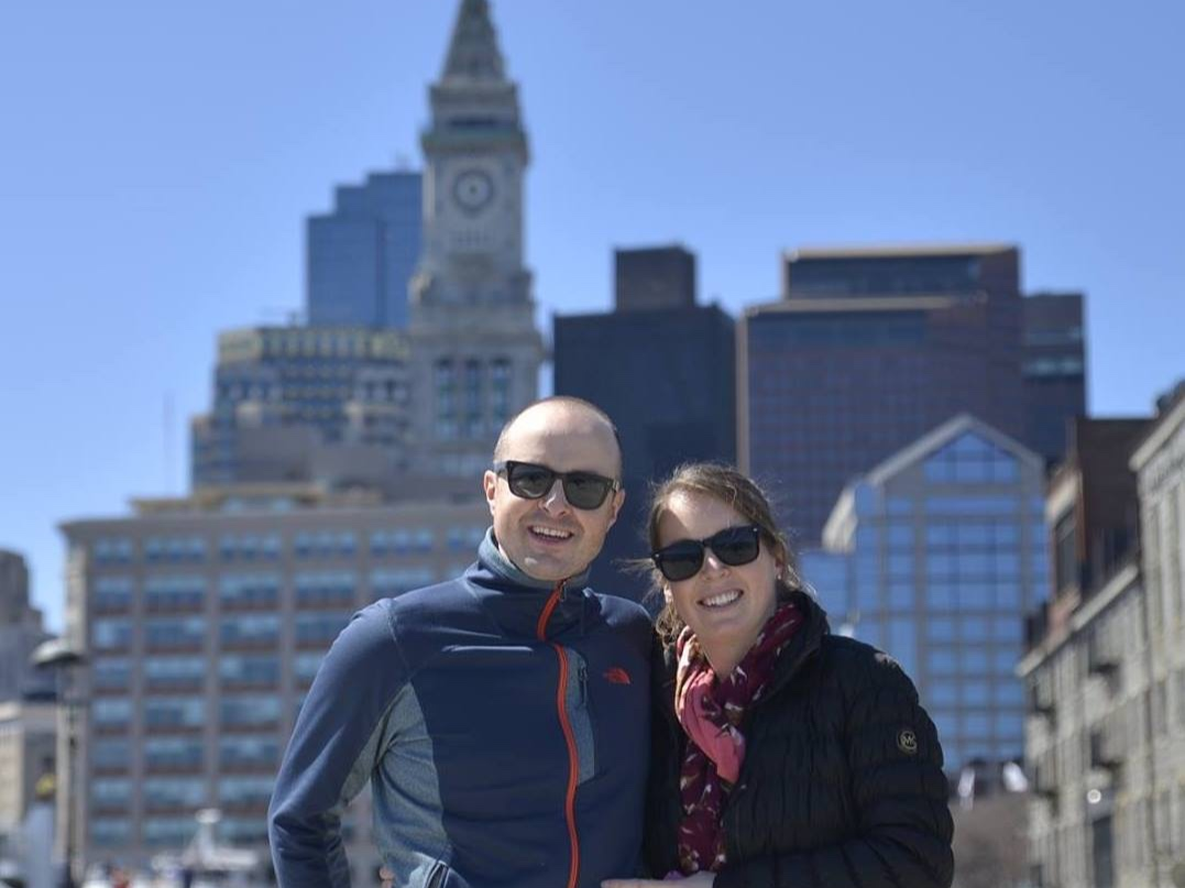 Kate & myself enjoying a sunny Spring day in downtown Boston