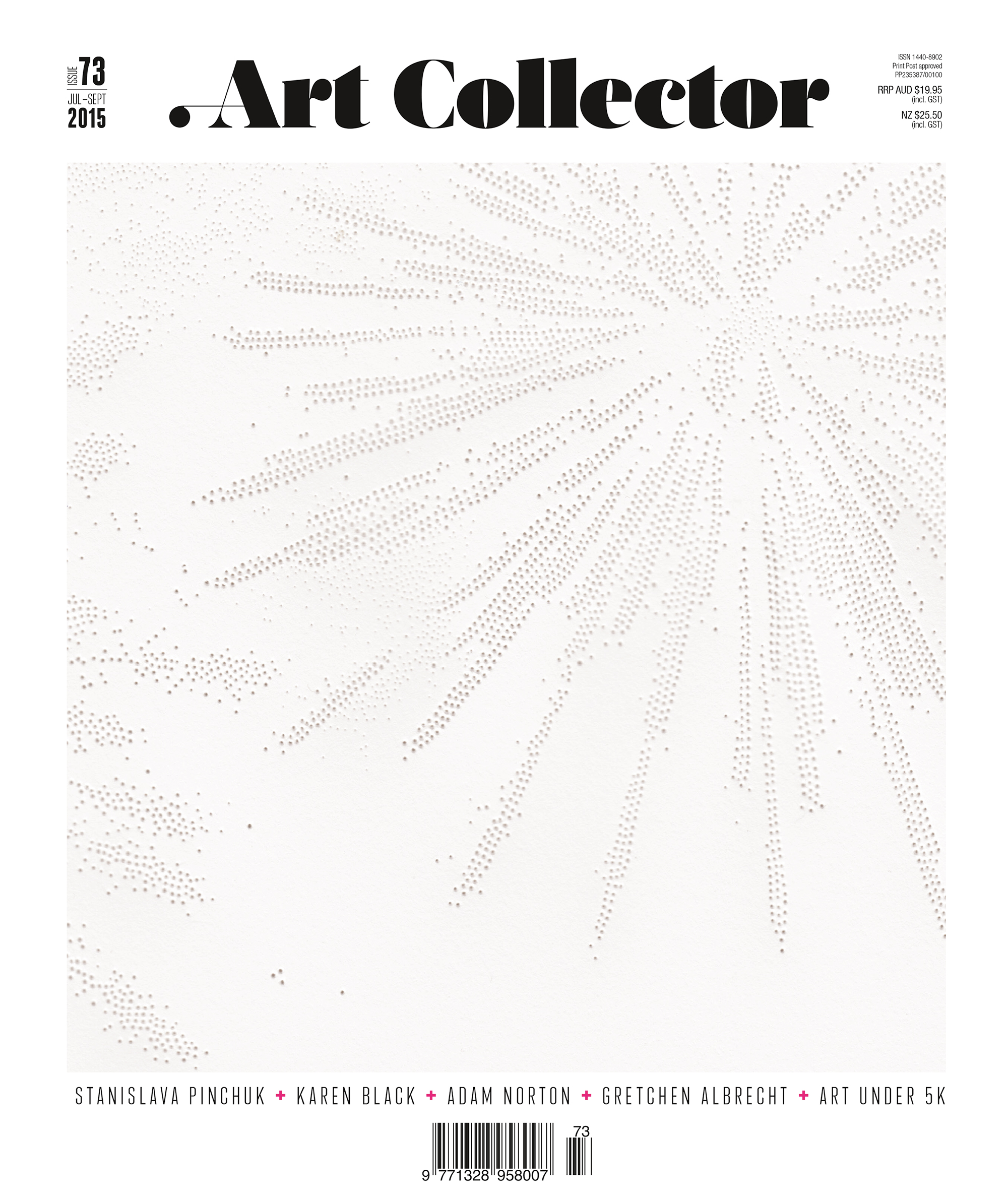 Cover story on Stanislava Pinchuk for Art Collector, Issue 73, Jul-Sept 2015.