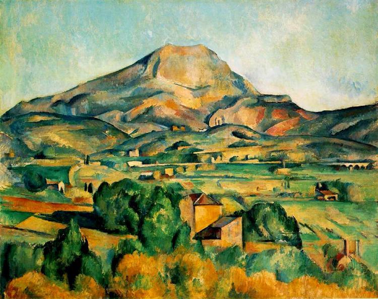 Paul Cezanne,  Mont Saint-Victoire,  1904, oil on canvas