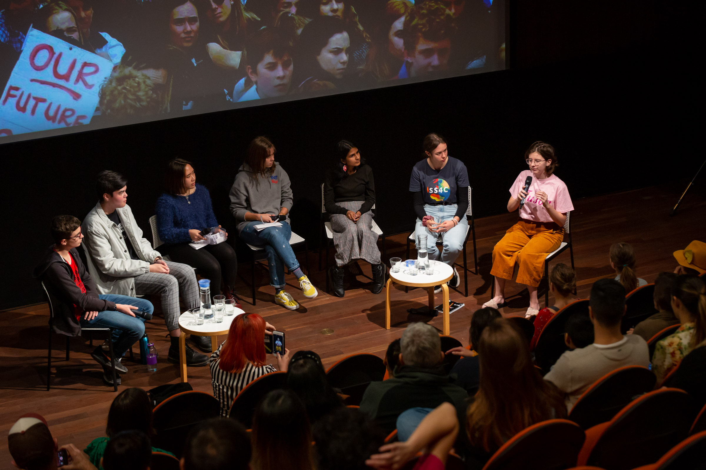 Strikers! Youth leading change change panel, Conversation Starters 2019: Temperature Rising, MCA Australia, 2 June 2019. Photo: Jodie Barker, Image courtesy: MCA Australia