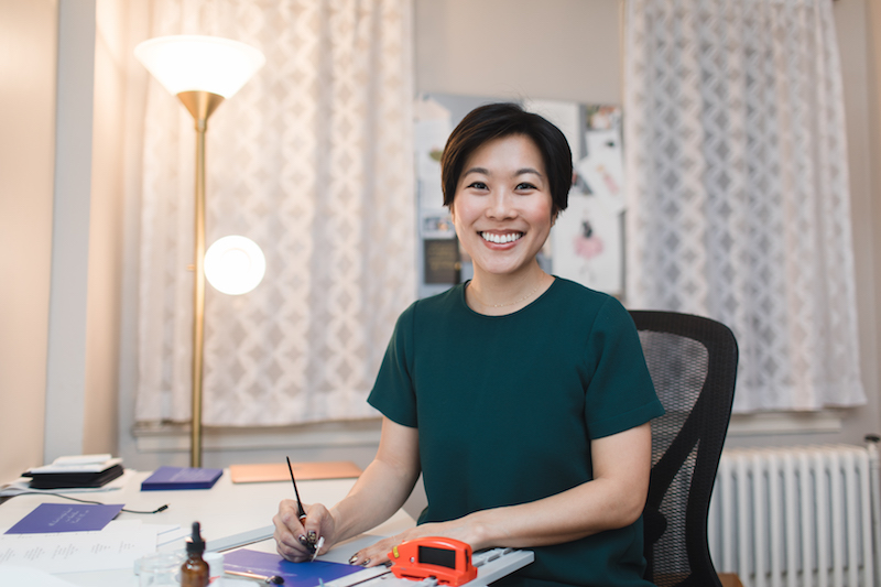 becky park - A CALLIGRAPHER USES HER TALENT TO TURN ORDINARY WORDS INTO WORKS OF ART.