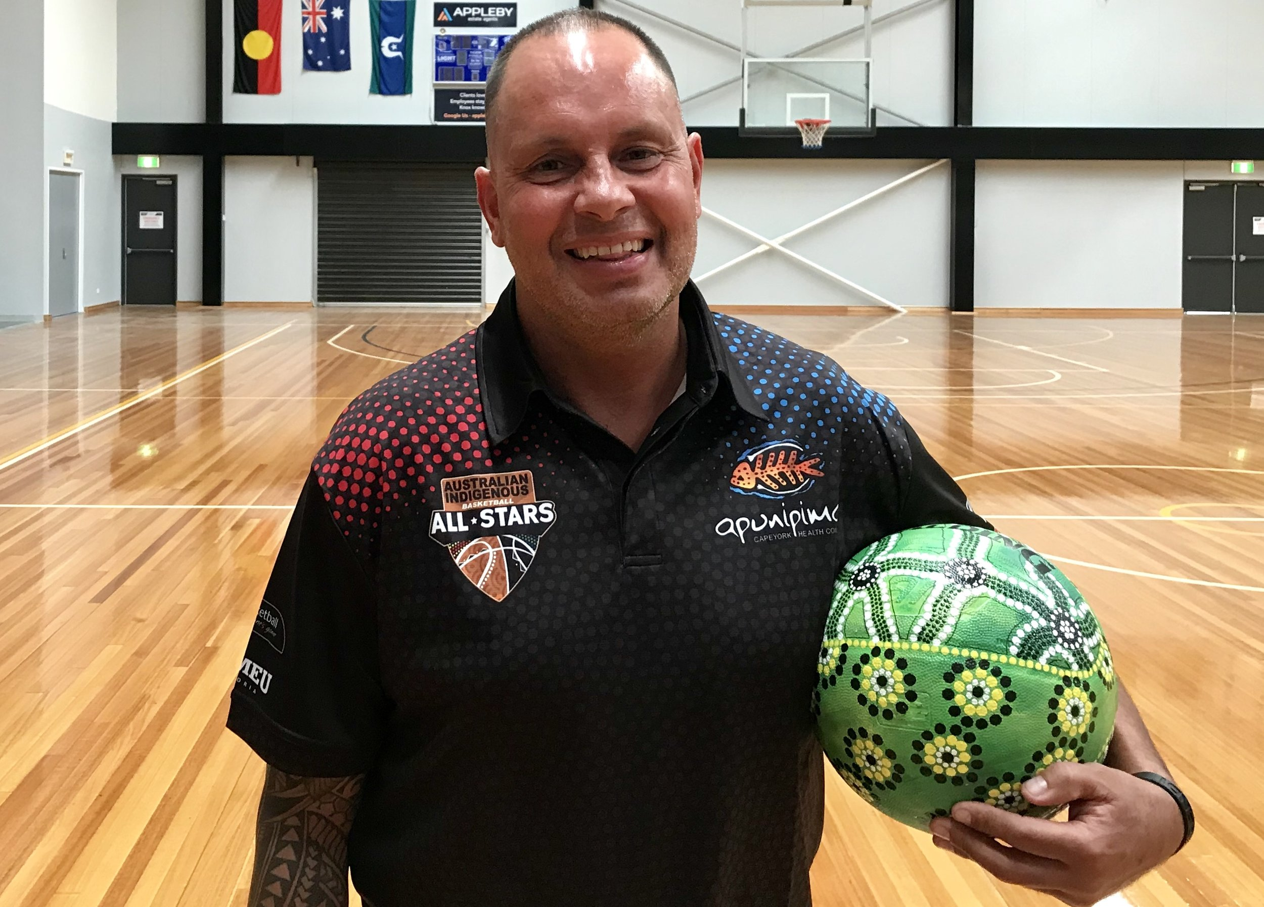 Apunipima All Stars women's head coach Ricky Baldwin is excited about his teams' chances in NZ. Picture: Provided