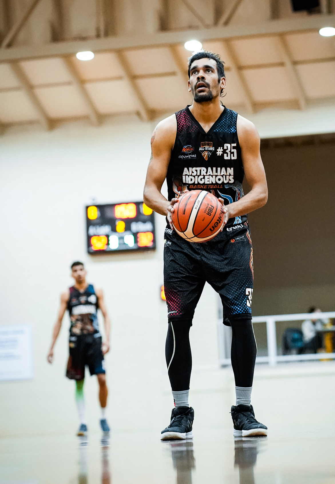 #35 Dion Patten in action for the All Stars last year. Picture: Adekponya