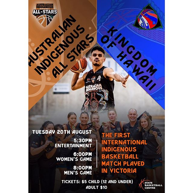 #COMMUNITY 🙌🏽 • Catch the Australian Indigenous Basketball All Stars 🌟 in action prior to the 2019 International Indigenous Basketball & Cultural Showcase at Marvel Stadium, when our AIB teams face the Kingdom of Hawai'i National Teams in Victoria's first-ever International Indigenous matches being held at the State Basketball Centre on Tuesday night, August 20 🏀 • Supported by Knox Basketball, the historic event will also feature cultural entertainment, including traditional Indigenous song and dance performances 👣 • Another highlight of the evening will be the AIB Legends Ceremony, where First Nation greats of the game will be recognised 🏆 • • #TooDeadly ✌🏽 #OneMob ☝🏽