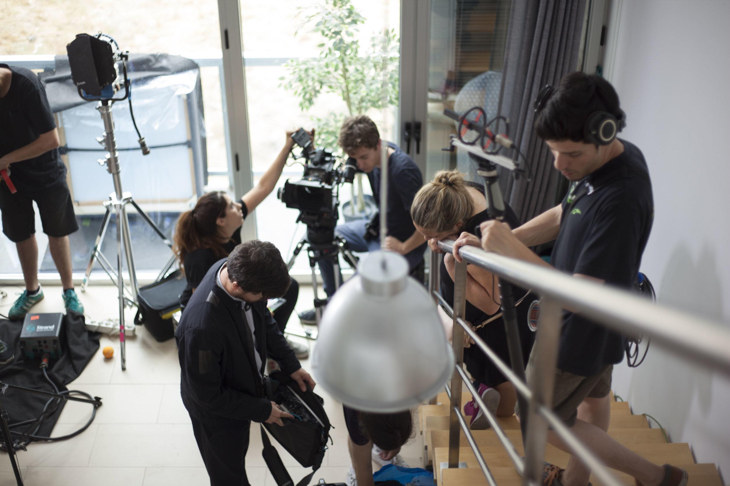 Fotografía de making of del rodaje de mi cortometraje Emotional Disease. Autor de la fotografía: Claudia Gracia