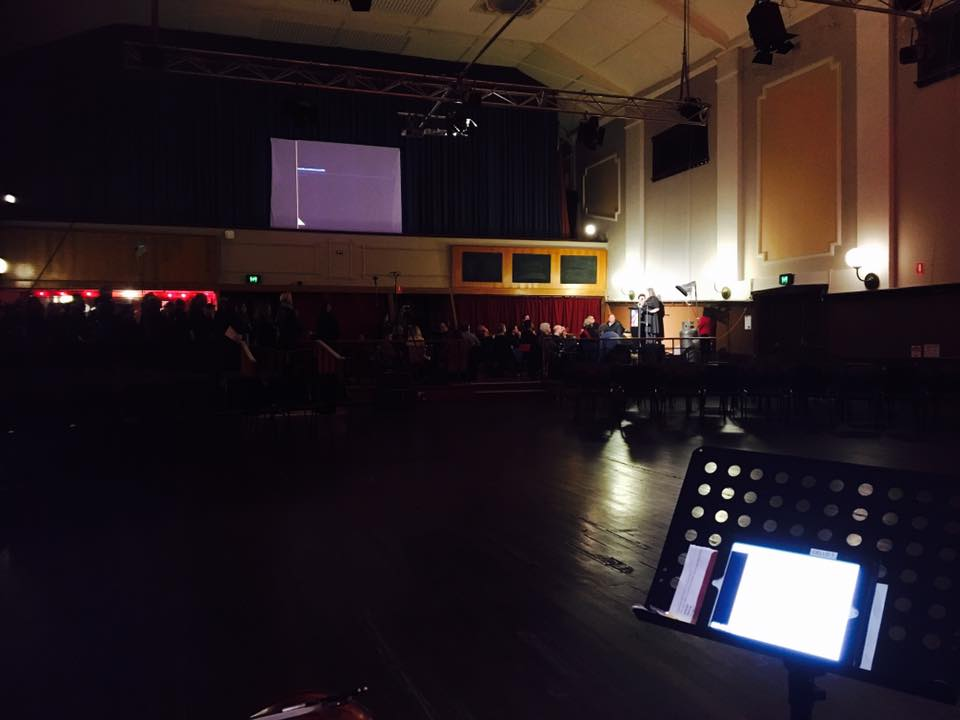 The view from the stage.