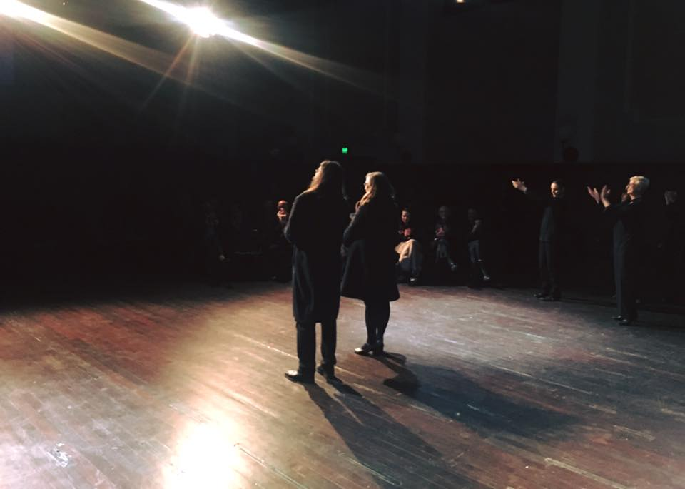 The special moment of applause, with music director Aaron Wyatt.