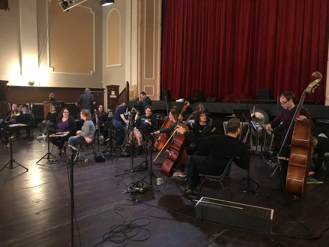Just about to start the first rehearsal of the Australian Bass Orchestra in the project.