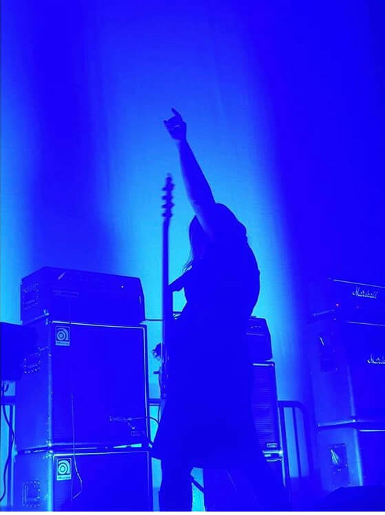 My salute to the Altar of the Amplifier at my recent performance at Substation
