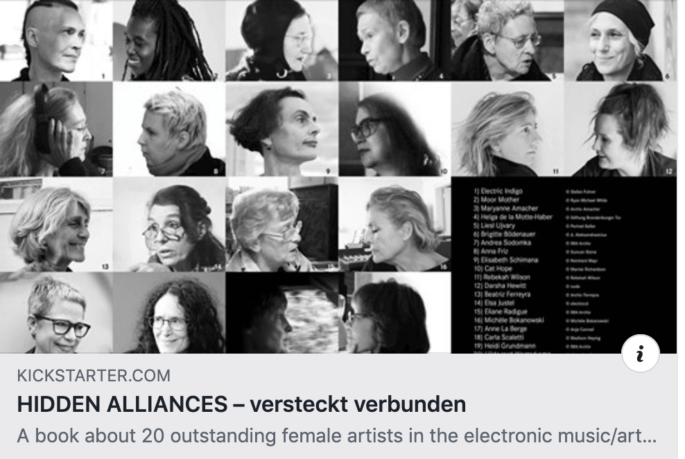 I am featured in a book about women in electronic music, entitled 'Hidden Alliances'.