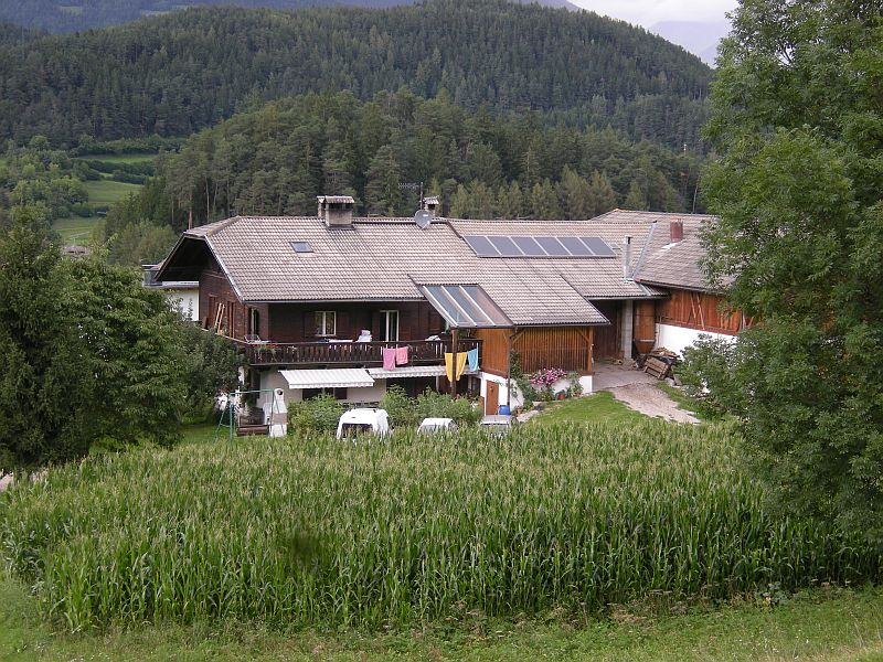 Even newer houses are often built in the traditional style that connected the living quarters with the barn and the stables all under one roof. Many houses have solar installations on their roofs and firewood stored on the side of the building - makes for lower energy bills!