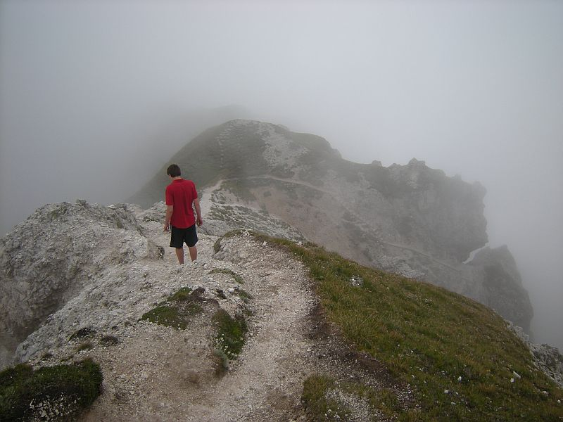 Starting the way back was like entering into a secretive and mysterious world totally concealed by fog.