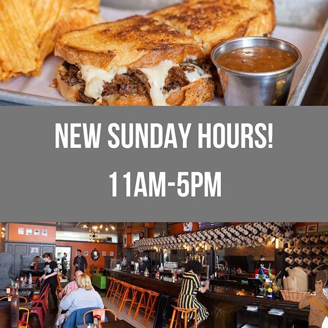 New Sunday Hours at the restaurant! Starting this week, we'll be open 11a-5p on Sundays...and be sure to stay tuned for some more exciting announcements! - - - - - - - #wheystation #wheystationary #getwheysted #grilledcheese #raclette #food #foodie #middletownct #localeats #cheese #foodtrucks