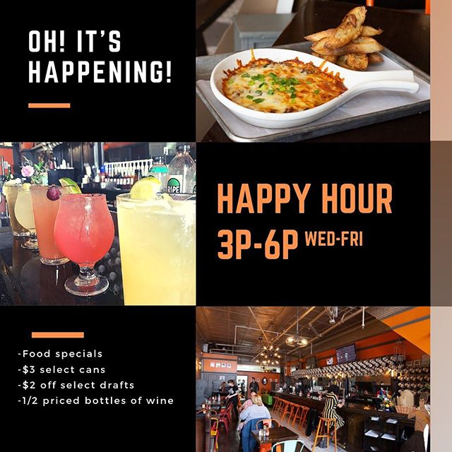 Oh Snap! We got Happy Hour now at @wheystationary! Come in Wed-Fri, 3p-6p for some amazing food specials and drink deals! - - - - - - - #wheystation #wheystationary #getwheysted #grilledcheese #raclette #food #foodie #middletownct #localeats #cheese #foodtrucks #happyhour