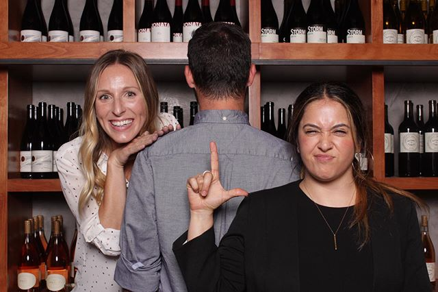 When you have a beautiful wall of wine, why cover it up with a backdrop?!? Our @amazeboothsb was at a recent event at @sbwinecollective and we were so pumped on how much energy and fun the booth added to this mixer - it really got people going!! // @acmehospitalitysb @tygertygersb @loquitasb @bright_floral @silvsmm @elitediscjockeys