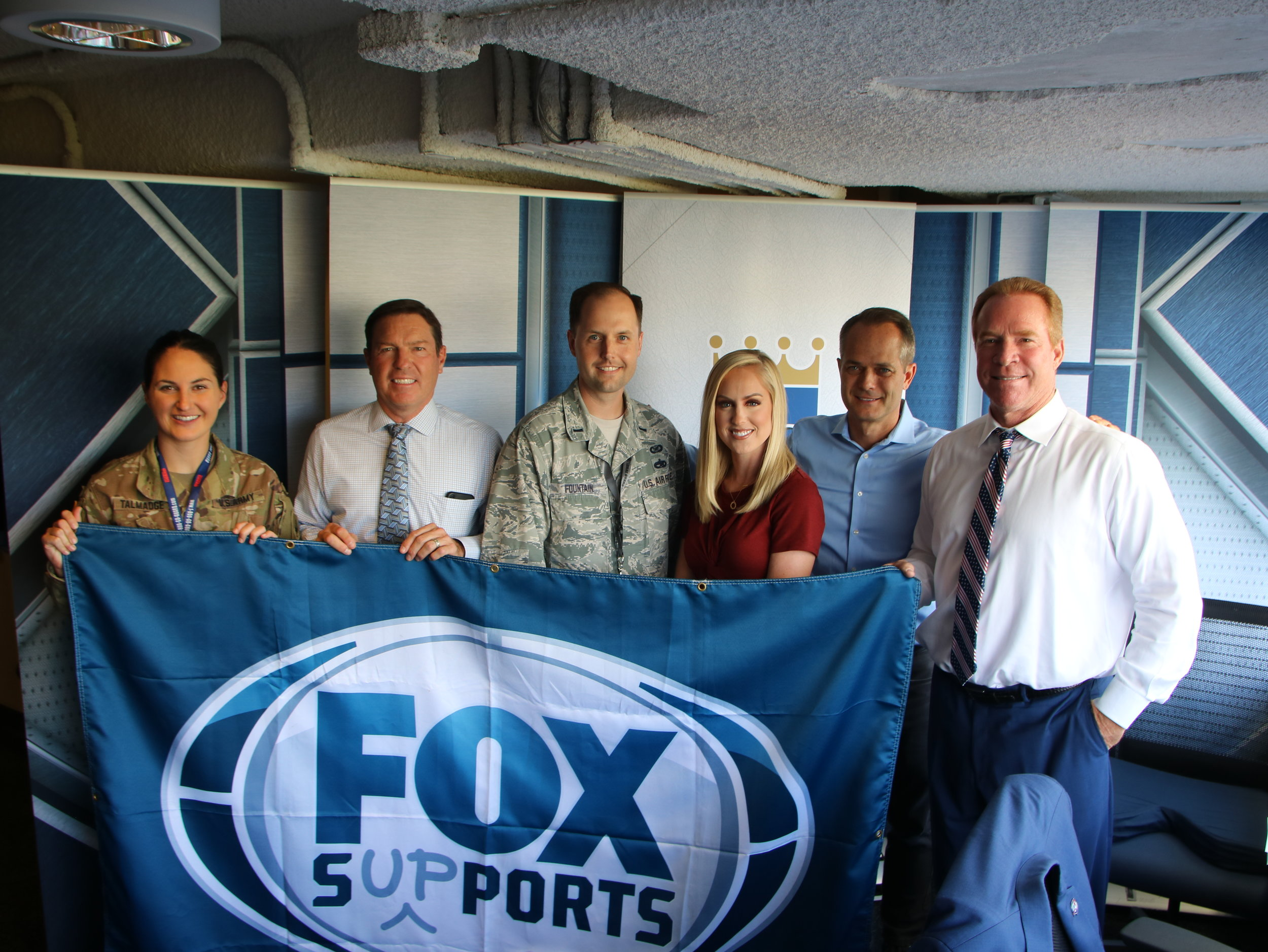 Rex Hudler and his fellow broadcasters honor members of the military through Fox Sports Supports