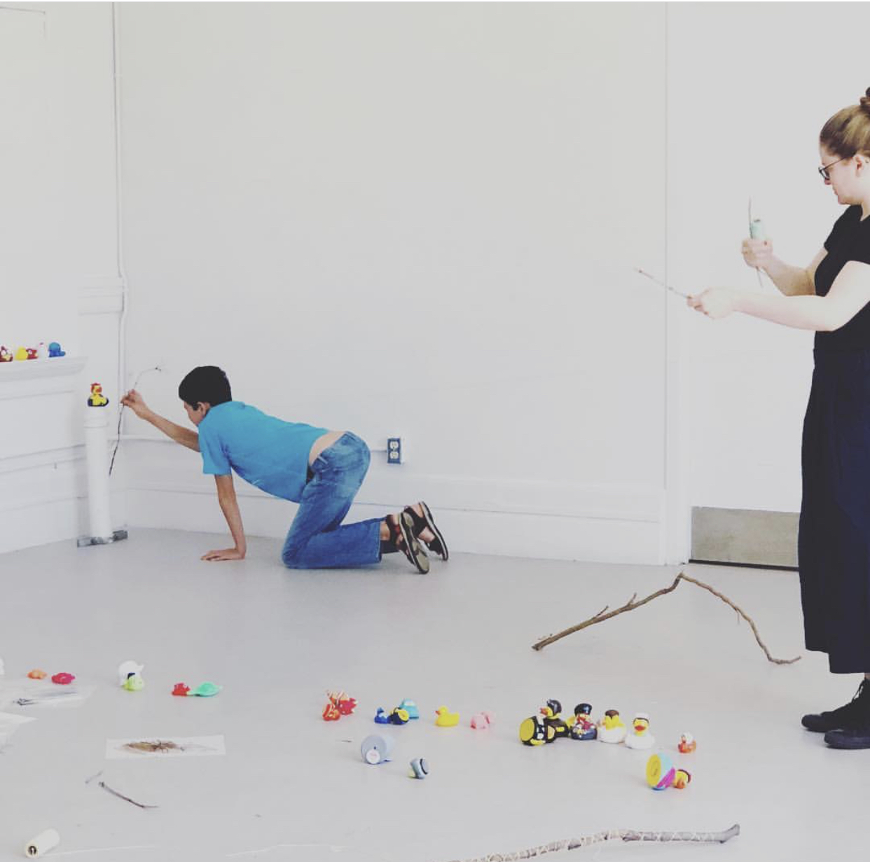Adam with Ellen Bleiwas in studio.