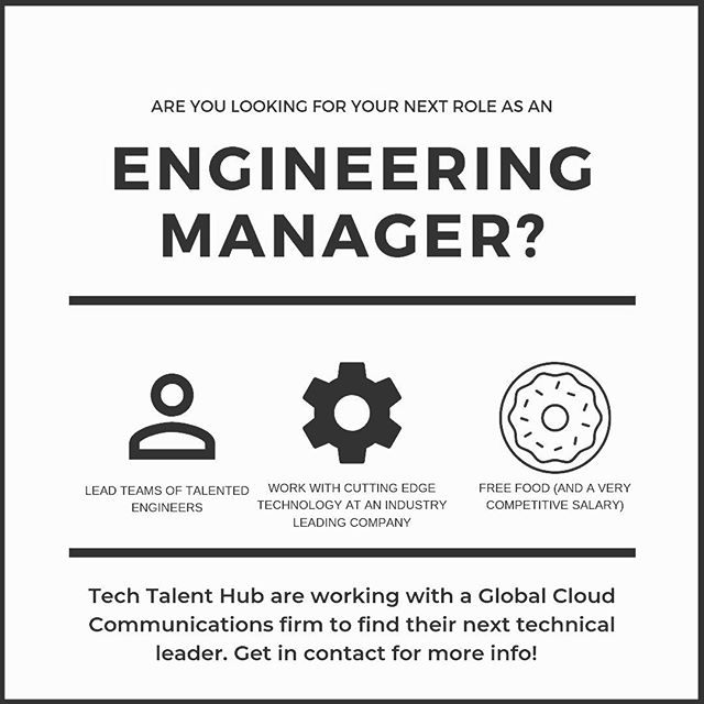 Tech Talent Hub are excited to be partnering with a leading global Cloud Commutations API company as they continue to expand and grow their world class engineering team.