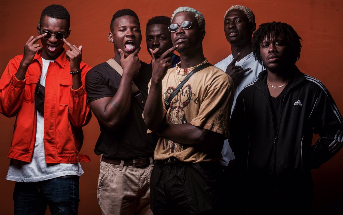 Photo courtesy: La Meme Gang /  La Meme Gang:  Darkovibes, $pacely, Nxwrth, RJZ, KiddBlack, KwakuBs