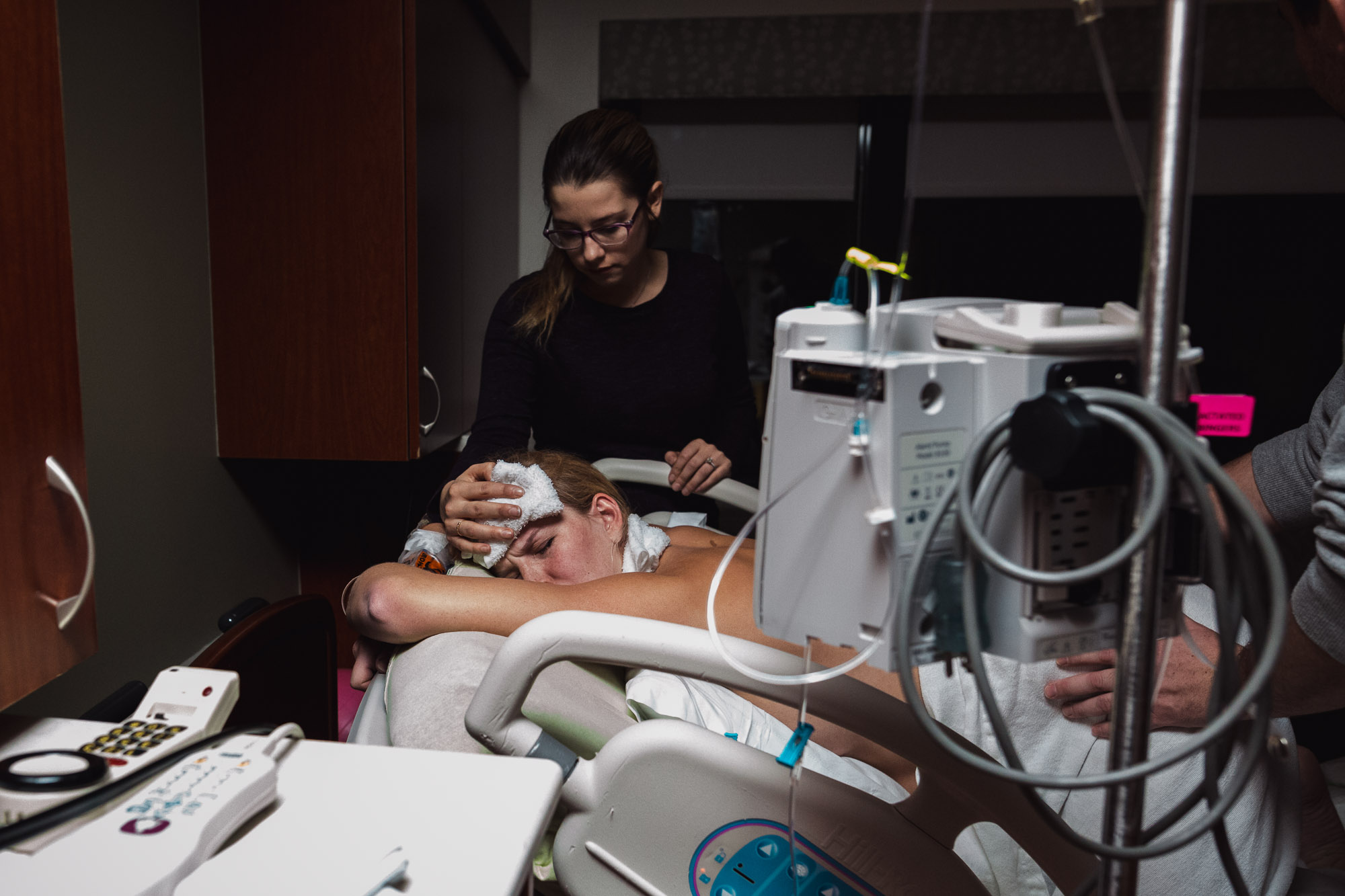 Her midwife's assistant Tristany Beckwidth was there for the birth.