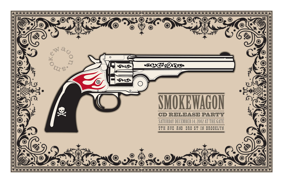 Design and illustration for Smokewagon gigposter