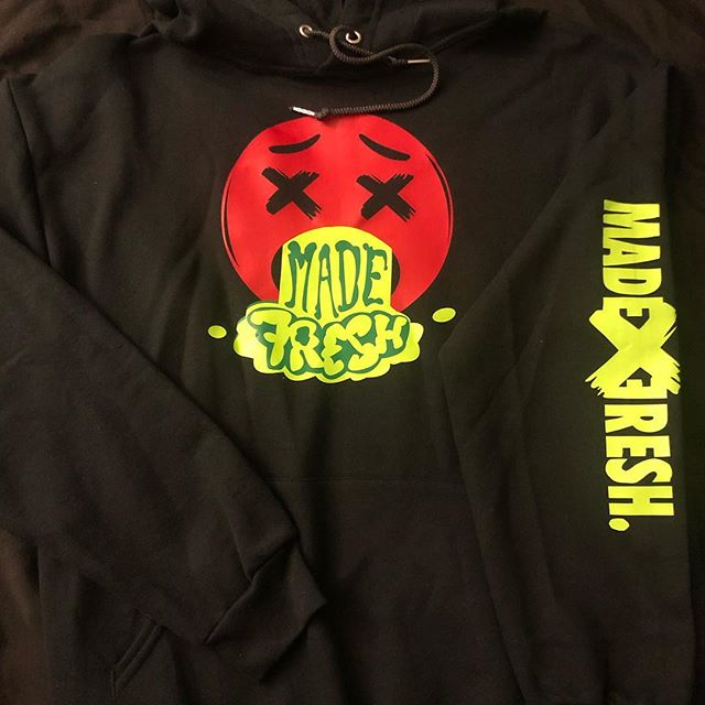 Hoodies and more live now! 🤮 link in bio!! #madexfresh #apparelprinting #customapparel #apparel #clothing #custom #fresh #sneakerhead #midwest