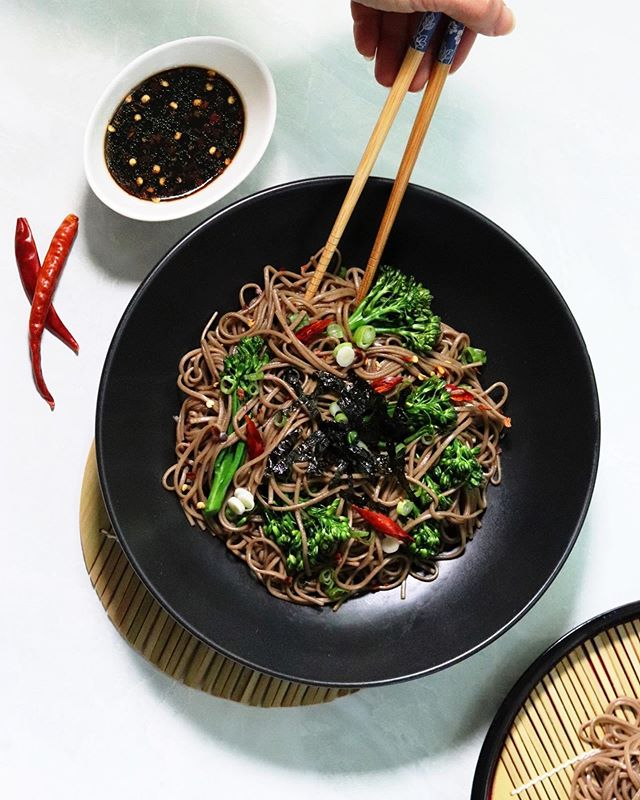 ✨NEW ON THE BLOG✨ Going from eating lots of treats while I was in Portugal to coming back home and making my own meals has had me in a little bit of a rut. So I've been trying to come up with some new easy to make dishes that taste just as good! I love soba and ate it all the time as a cold noodle dish growing up, but it tastes even better when it's studded with baby broccolini and coated in sweet soy ginger dressing 😍 Recipe link in bio! . . . . #gatheredandglazed #sobarecipe #sobanoodles #buckwheat #veganbrunch #dairyfree #easyvegan #veganlunch #veganrecipes #simplevegan #plantbasedmeals #justvegan #healthyvegan #plantbaseddiet #veganfoodshares #veganfoodspace #plantbasedfoods #veganinspiration #appetizerideas #goodoldvegan #dinnerideas #food52 @food52 #fuelyourbody #healthyrecipes #veganeats #letscookvegan #begoodtoyourbody #feedfeed @thefeedfeed #feedfeedvegan @thefeedfeed.vegan #thrivemags @thrivemags