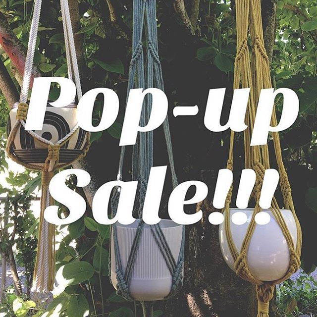 Pop up sale!!! Saturday 6/29 @paleponymacrame will be selling her gorgeous #macrame plant hangers and our own @niko_ware will be slinging #ceramics ! Come visit!!!!