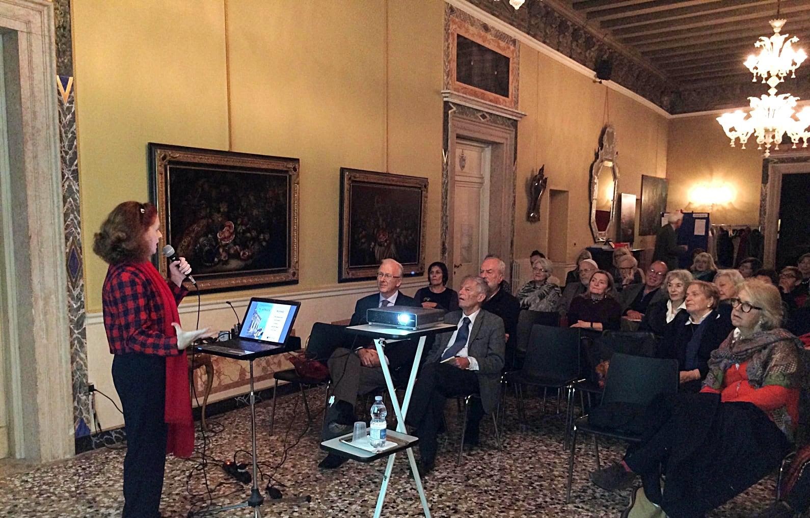 The author at the Circolo Italo-Britannico, Venice, Italy