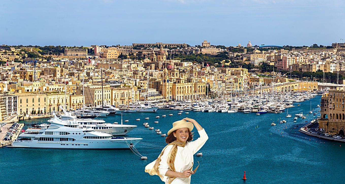 Panoramic view of Valletta, Malta