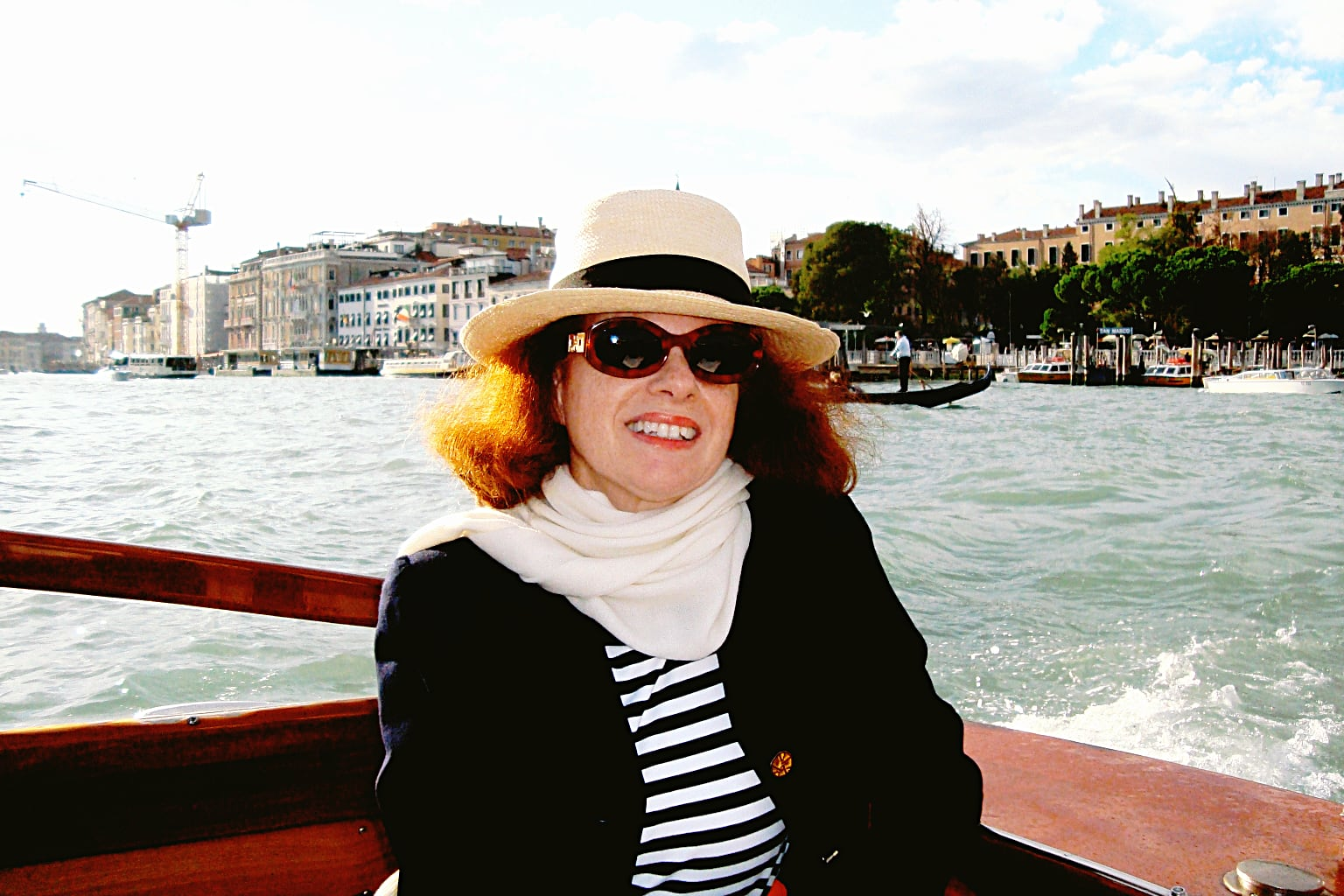 The author in Venice, Italy